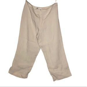 Joseph Ribkoff crop high waist wide leg trousers